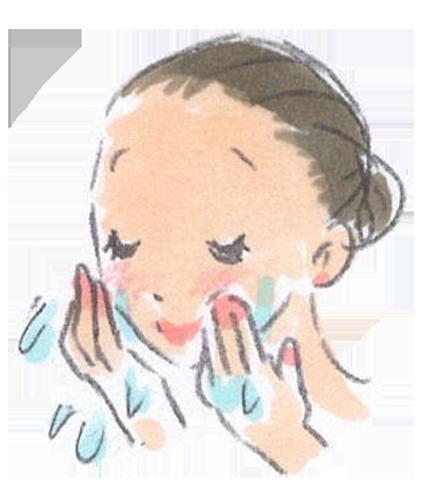 マルティナクレンジングミルクでの洗顔手順2
